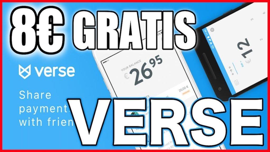 verse app 5€ gratis