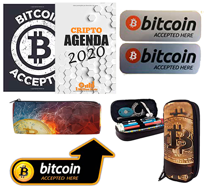 papelería bitcoin y criptomonedas