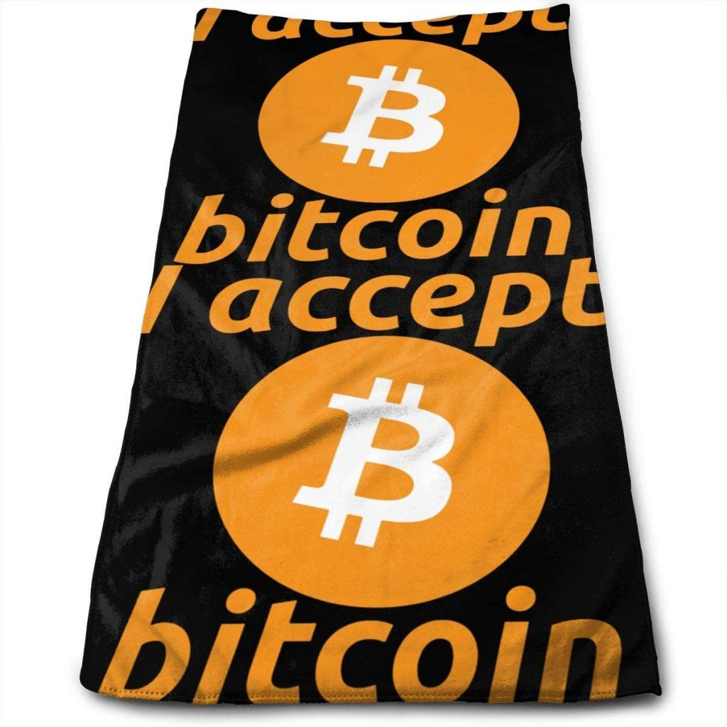 Toalla bitcoin acepted here