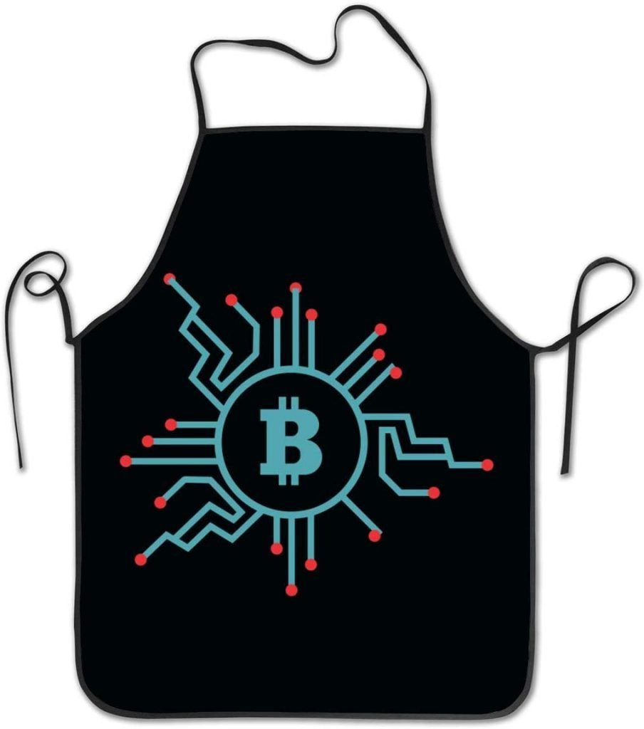 Delantal cocina bitcoin