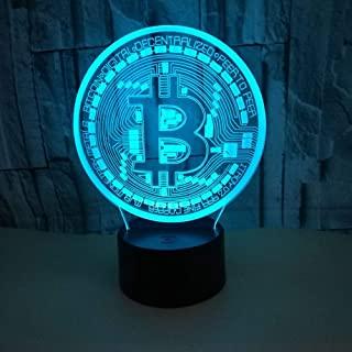 lámpara bitcoin colores