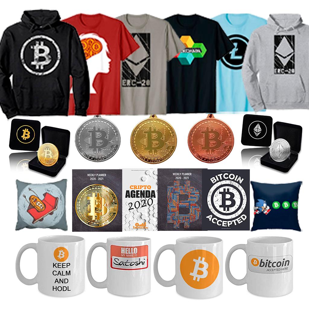 Merchandising bitcoin y criptomonedas oficial