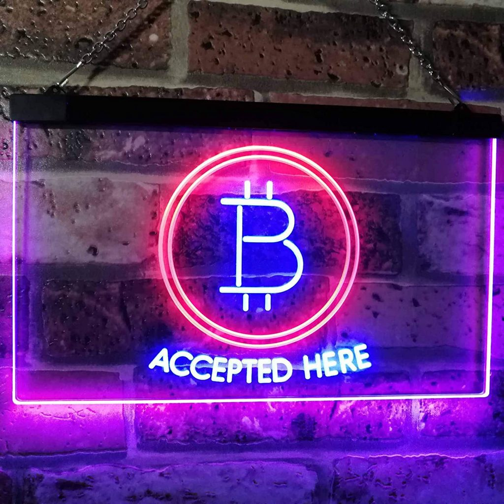 Neon logo bitcoin