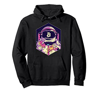 Sudadera logo bitcoin astronauta