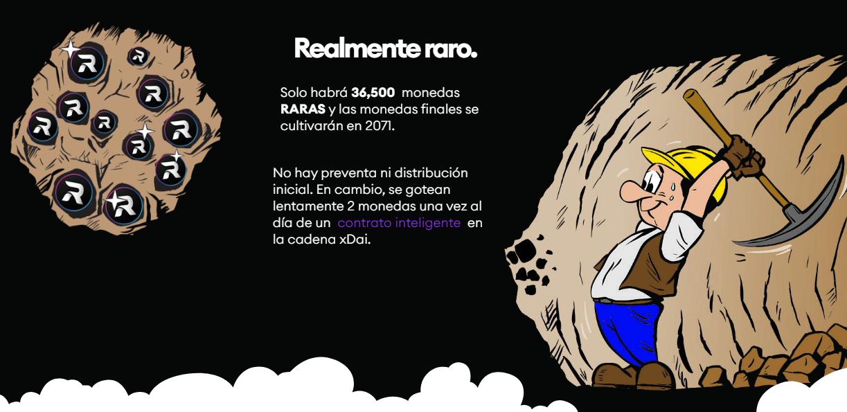 El suministro total de monedas Rare Coin es de 36.500