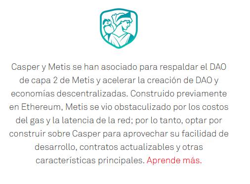 Casper network y Metis