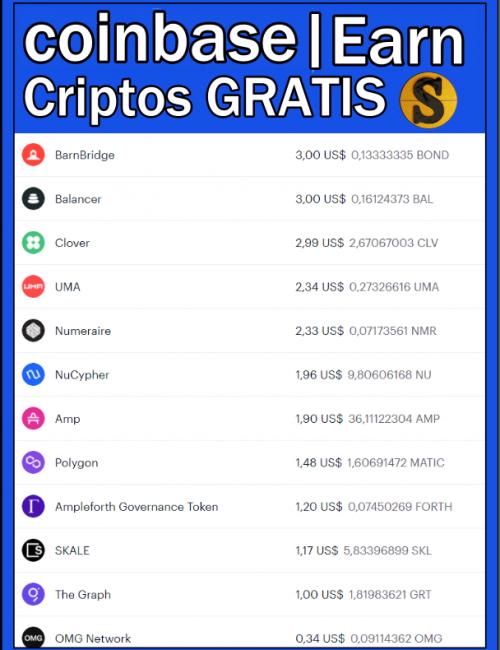 Coinbase earn actualizado agosto 2021