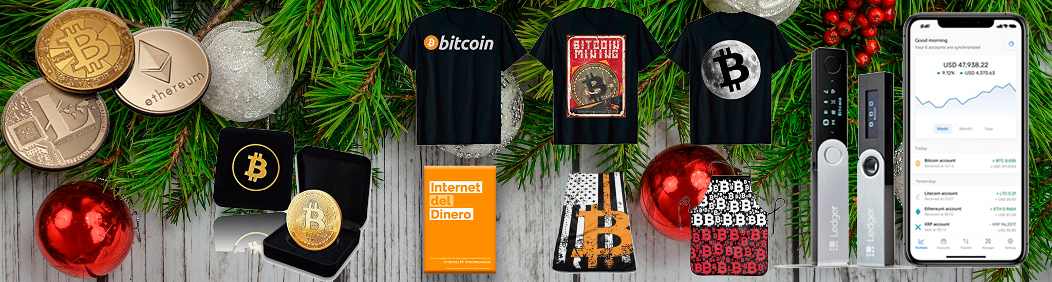 banner tienda navideña