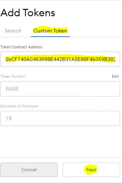 rare contract